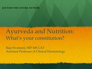AyurvedaNutritionLecture_DEC2014