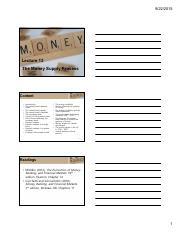Lecture_13_-_The_Money_Supply_Process_3_slides_per_page