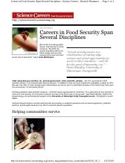 Assignment No 2-Careers in Food Security Span Several Disciplines.pdf