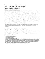 Walmart SWOT Analysis - Walmart SWOT Analysis