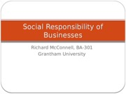 Social Responsibility of Businesses