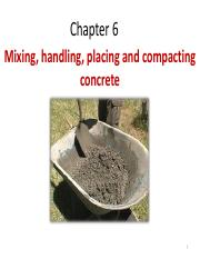 6 Mixing Handling Compaction of Concrete