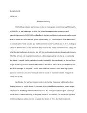 Fast Food Industry Paper- GOV.docx