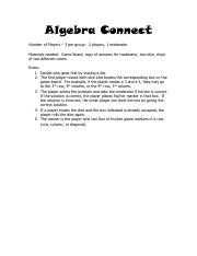 algebra connect solving equations