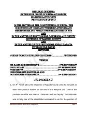 6 OF 2013 ELECTION PETITION final