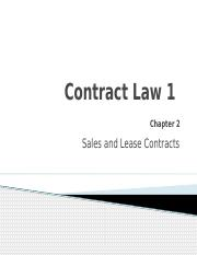 Contract Law 1(1)