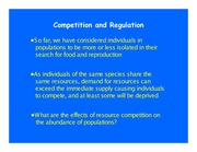 Lecture 6 - Competition and regulation