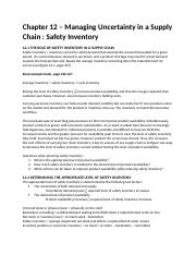 Supply Chain Management - Chapter 12.docx