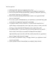 Interview Proposal Questions