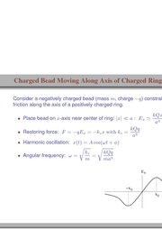 35. Charged Bead Moving Along Axis of Charged Ring