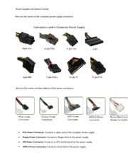 Power Supplies and System Cooling Notes