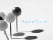 Acquiring Customers - Posted