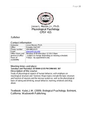 Physio syllabus Clark Atlanta Fall 2014 Jesse mason