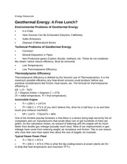 earth science Energy Resources