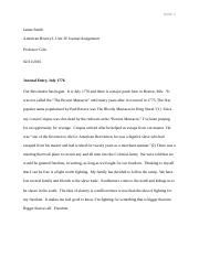 James Smith CSU Critical Thinking Journal Assignment.docx