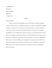 The Great Gatsby Journals Chapters 1-4