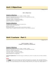unit 2 objectives, lecture 1&2, sample calculation.docx
