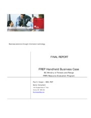 Business-Case-FREP-Handheld