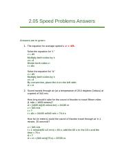 2.05 Speed Problems Answers.docx