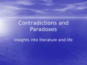 ContradictionsandParadoxes