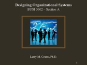 1 - Introduction to Designing Organizational Systems - Section A - Web