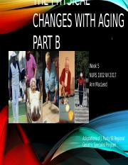 Wk  5 Physical Changes of Aging Part B(1).pptx