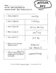 1021 quiz 3 A Term 2009 answers