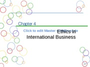 Chapter 4a Ethics in International Business