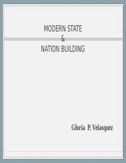 MODERN STATe and national BUILDING