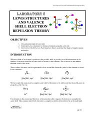 Lab 5 -Lewis Structures