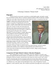 Following A Columnist: Thomas Sowell