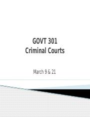GOVT 301 Crim Court Process March 9 and 21.pptx