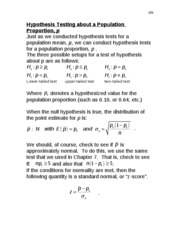Hypothesis Testing about a Populatiin Proportion (1)