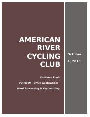 VOIM109 W5 American River Cycling Club Assessment.docx