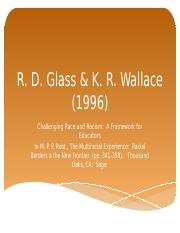 3-Glass and Wallace Challenging Race and Racism