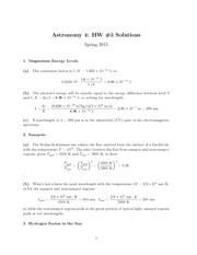 HW#3, Solutions