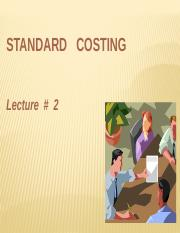 Lecture 2-Standard Costing