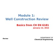 well construction review