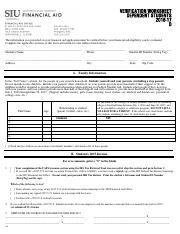 2012-13 Verification Worksheet – Dependent Student Institutional ...