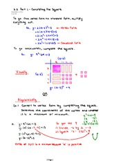 3.3 Part 1 Completing the Square