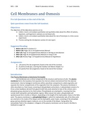 Week 4 HANDOUT - Cell membranes and Osmosis