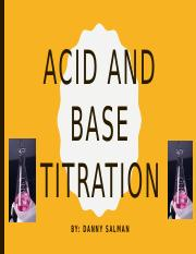 Acid and Base Titration