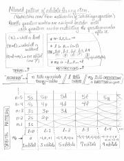 Quantum Number Pattern and Terms, 1110 F16