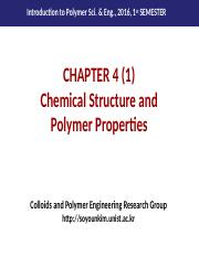 Chapter 4 (1)_Chemical Structure and Polymer Properties.pptx