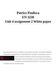Unit 4 Assignment 2 White Paper
