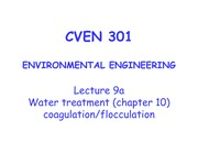 9a_CVEN 301_ Lecture 9a_Water treatment