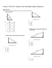 Geom Unit 8 Test - Right Triangles and Trigonometry.rtf ...