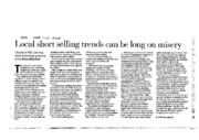 Mumford_ AFR_20080301_Local short selling trends can be long on misery