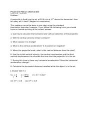 projectile motion problems intro worksheet from jim sutherland.doc