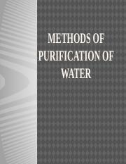 Lecture Note 5-METHODS OF PURIFICATION OF WATER.pptx